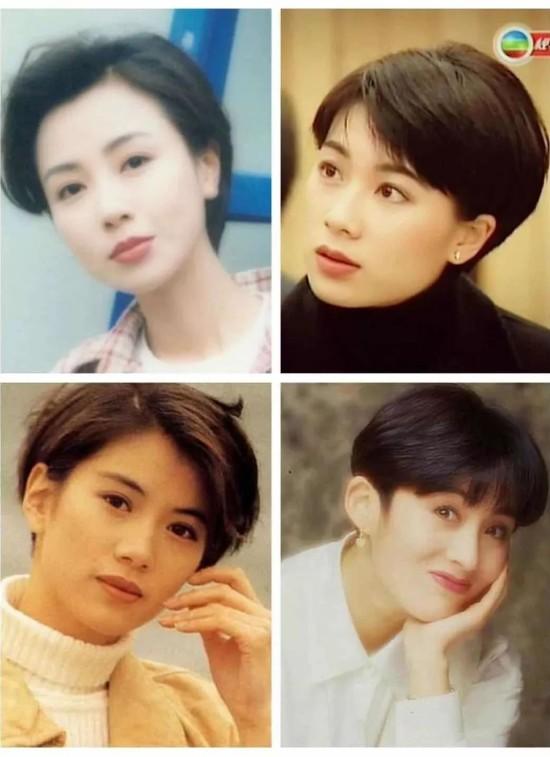 由此可以总结出那时候女明星们的发型特点了吧图片