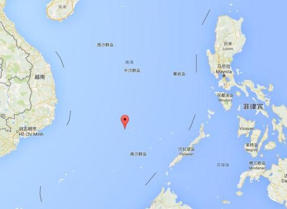 太平岛在南海中的位置