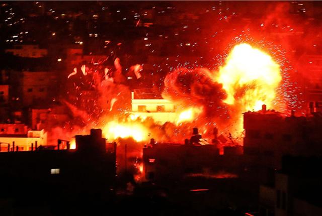 以色列空袭加沙多个目标 哈马斯电视台被击中