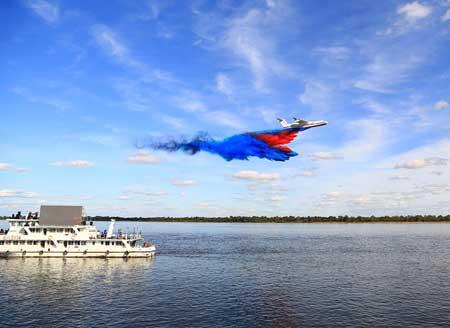 中俄在黑龙江举行界河应急联合演习