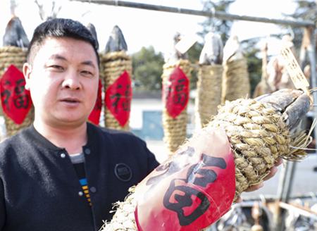 Citizens dry food in Jiangsu's Huaian