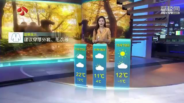 11.17江苏天气预报