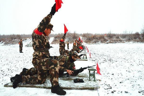 黑河支队新兵大雪天实弹射击|荔枝军事