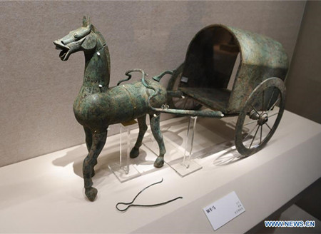 Cultural relics exhibited at Nanjing Museum