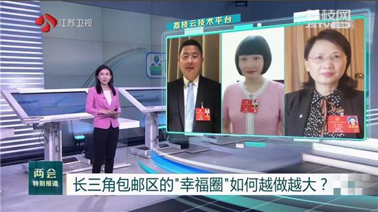 """長三角包郵區的""""幸福圈""""如何越做越大?江蘇、上海、浙江的代表委員在線答題"""
