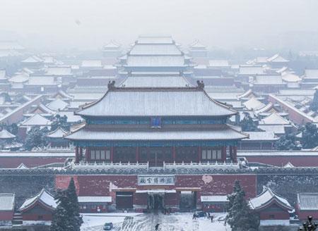 北京迎2021初雪 最美不过故宫的雪!